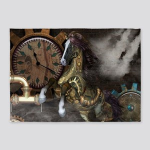 Steampunk, beautiful steampunk horse, clocks and g