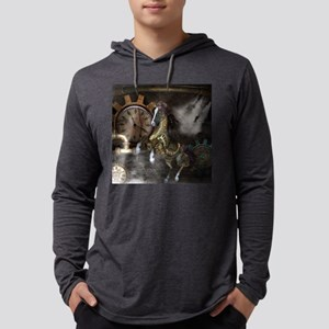Steampunk, beautiful steampunk horse, clocks and g