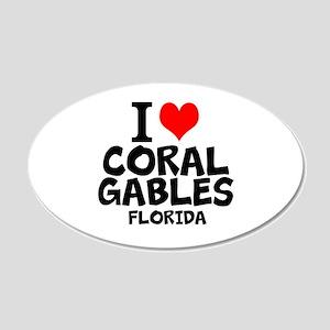 I Love Coral Gables, Florida Wall Decal