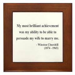Winston Churchill 15 Framed Tile