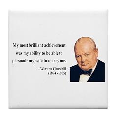 Winston Churchill 15 Tile Coaster