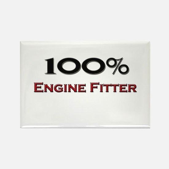 100 Percent Engine Fitter Rectangle Magnet