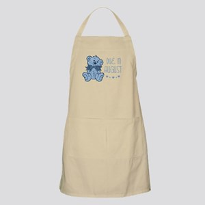 Blue Marbled Teddy Due In August BBQ Apron