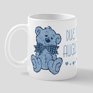 Blue Marbled Teddy Due In August Mug