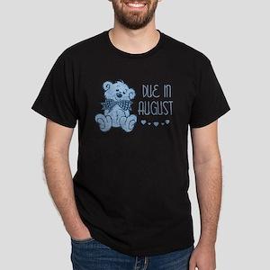 Blue Marbled Teddy Due In August Dark T-Shirt