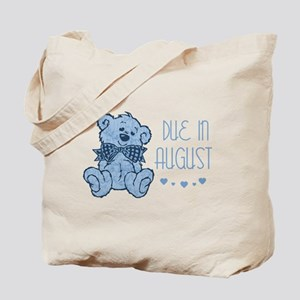 Blue Marbled Teddy Due In August Tote Bag