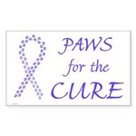 Periwinkle Paws4Cure Rectangle Sticker 10 pk)