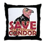 Save the California Condor Throw Pillow