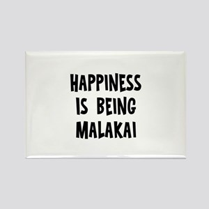 Happiness is being Malakai Rectangle Magnet