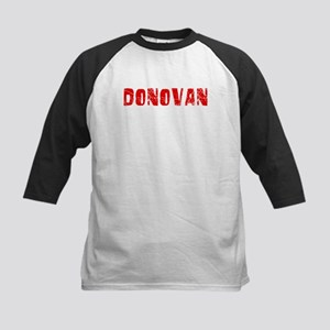 Donovan Faded (Red) Kids Baseball Jersey