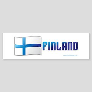 Finland Flag Sticker (Bumper)