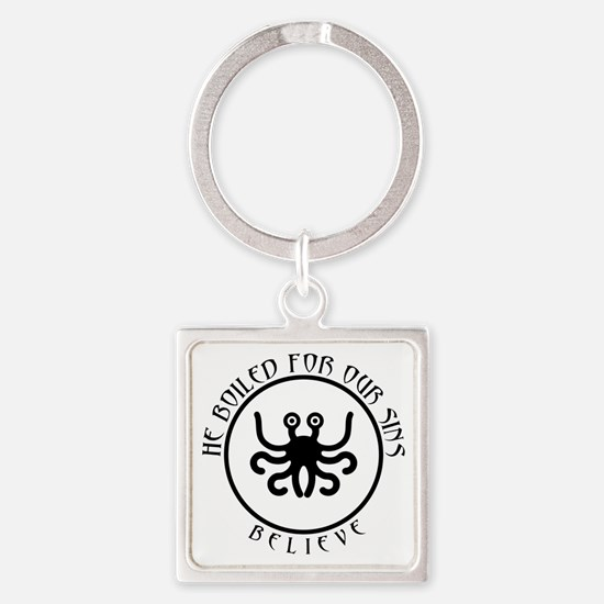 Cute Intelligent funny Square Keychain