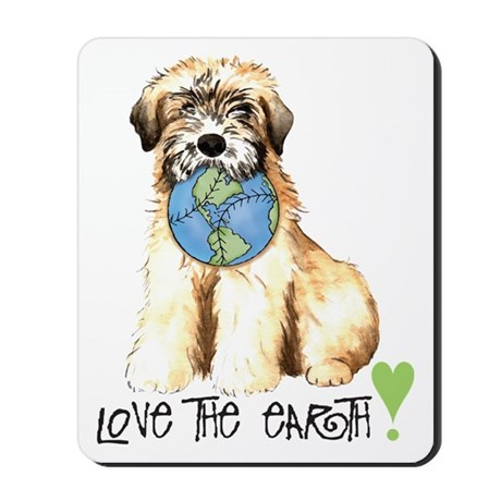 Earth Day Wheaten Mousepad