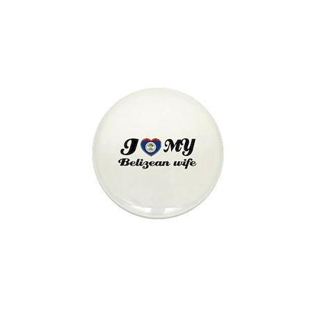I love my Belizean Wife Mini Button (100 pack)