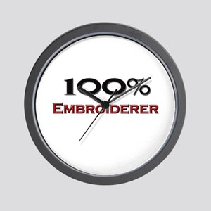 100 Percent Embroiderer Wall Clock