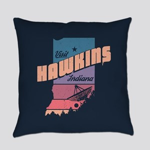 Visit Hawkins Indiana Everyday Pillow
