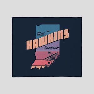 Visit Hawkins Indiana Throw Blanket