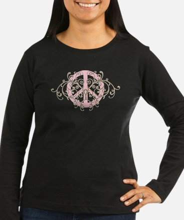 Peace sign with swirls T-Shirt