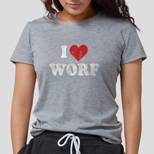 Star Trek: I Heart Worf Women's Dark T-Shirt