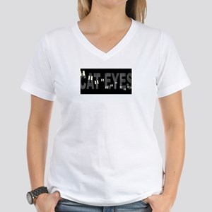 CAT EYES 02 Women's V-Neck T-Shirt