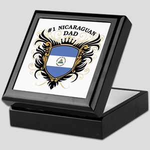Number One Nicaraguan Dad Keepsake Box