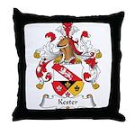 Kester Family Crest Throw Pillow