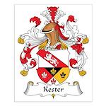 Kester Family Crest Small Poster