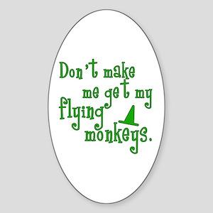 Flying Monkeys Oval Sticker
