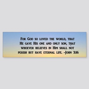 JOHN 3 16 GOD Bumper Sticker