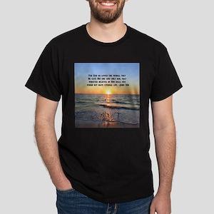JOHN 3 16 VERSE Dark T-Shirt