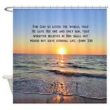 Bible verses john 316 Shower Curtains
