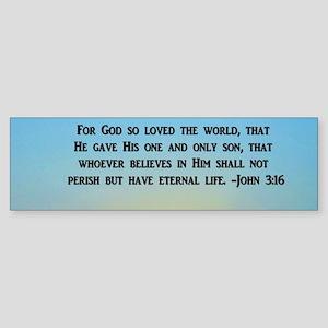JOHN 3 16 GOD Bumper Sticker