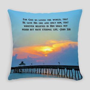 JOHN 3 16 VERSE Everyday Pillow