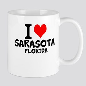 I Love Sarasota, Florida Mugs