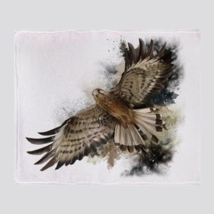 Falcon Flight Throw Blanket