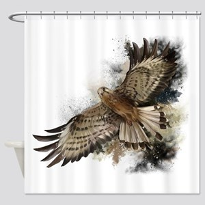 Falcon Flight Shower Curtain