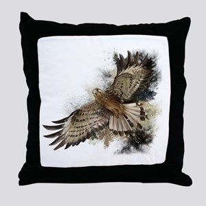 Falcon Flight Throw Pillow