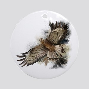 Falcon Flight Round Ornament
