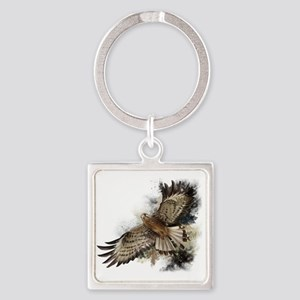 Falcon Flight Square Keychain