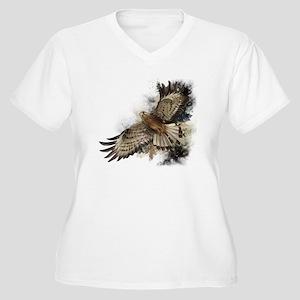 Falcon Flight Women's Plus Size V-Neck T-Shirt