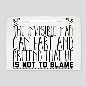 The Invisible Man can fart and pret 5'x7'Area Rug