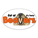 Eat At Beavers Oval Sticker (10 pk)