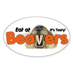 Eat At Beavers Oval Sticker