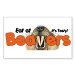 Eat At Beavers Rectangle Sticker