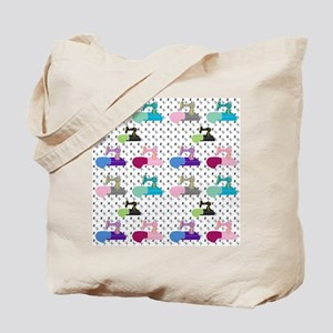 Colorful Sewing Machines Tote Bag