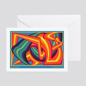 Primal (b) Greeting Card