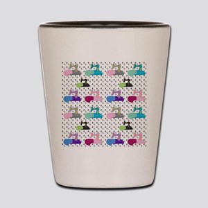 Colorful Sewing Machines Shot Glass