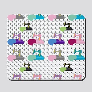 Colorful Sewing Machines Mousepad