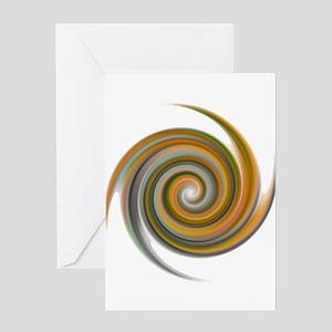 Earthen Spiral Greeting Card