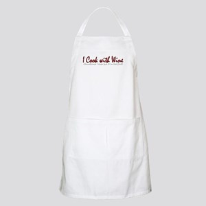 I Cook with Wine BBQ Apron